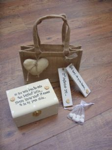 Shabby Handcrafted personalised chic.. Gift for the Bride from her Bridesmaid..